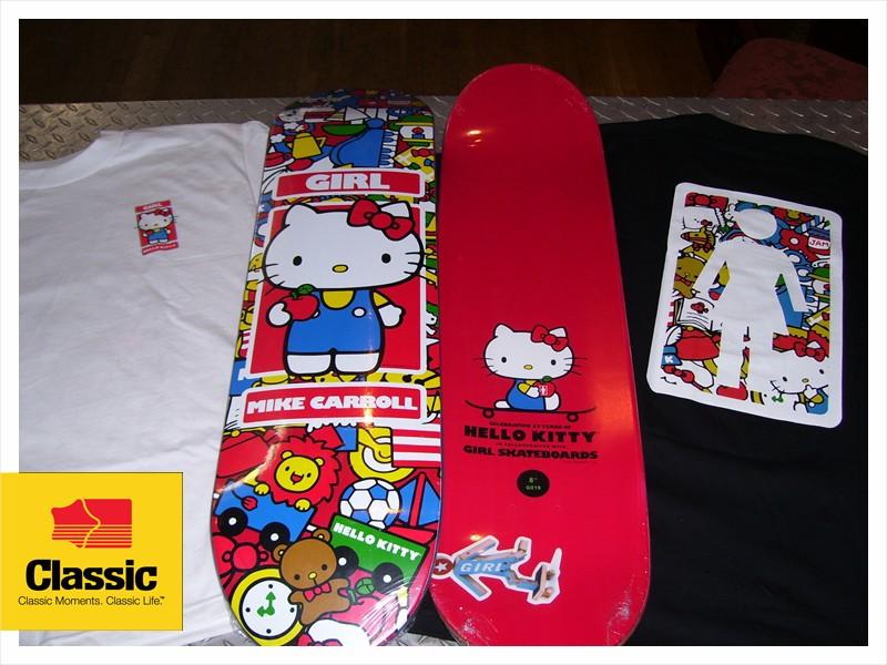 classic skate shop girl skateboards x hello kitty. Black Bedroom Furniture Sets. Home Design Ideas