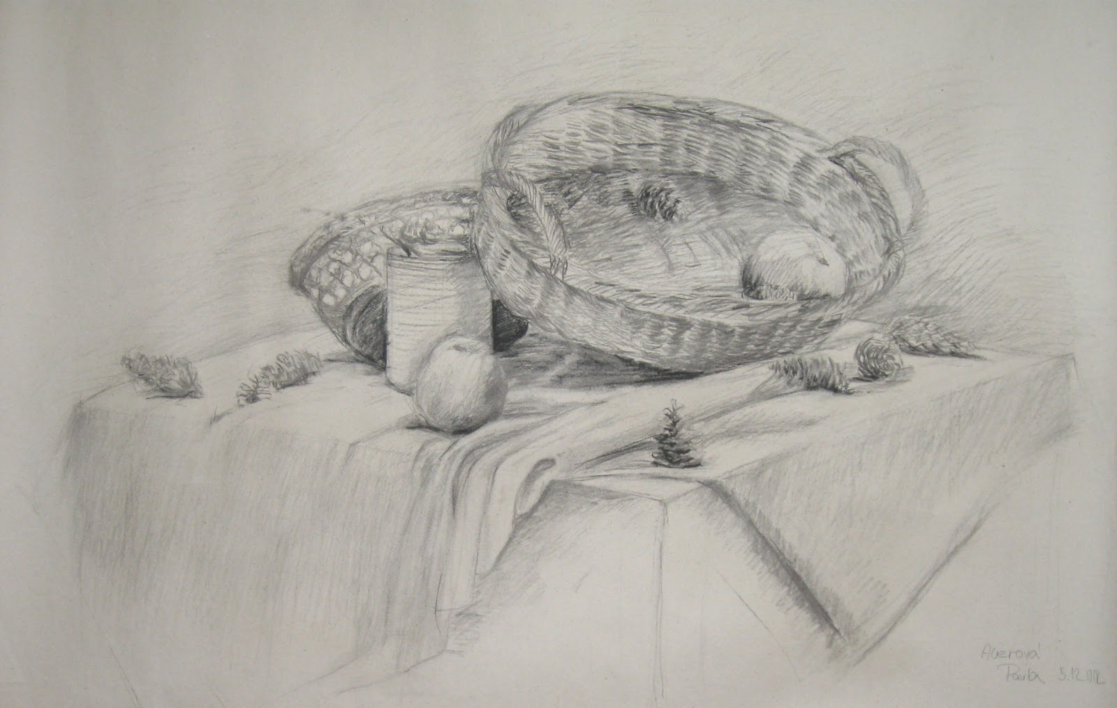 Aura Kresba Zatisi Uhel Drawing By Charcoal