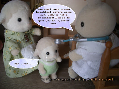 Sylvanian Families Story - Sheepie was taken an injection.