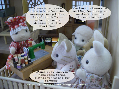 sylvanian families wedding plan