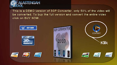 3GP Converter is a PC software application that can be used to mengkoversi all video files into file 3GP, MP4, MPEG, and FLV. This application is perfect for those of you who like to play or play video files on your mobile phone. Then for how to use it is also very easy, you just double click, then click select a video to convert, then that Puspa click Convert and wait until the process is complete