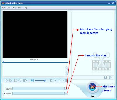 Tip cara tepat untuk melakukan pemotongan atau memotong file dengan program Xilisoft video cutter