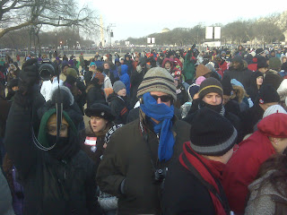 Cold in D.C. A teacher blogs the inauguration for his Iowa students.
