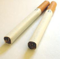A cigarette. Smoking is the main cause of COPD.