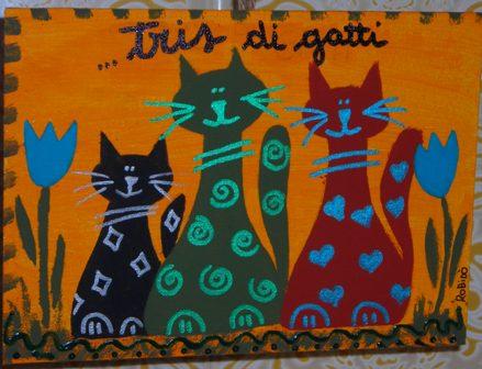 tris di gatti