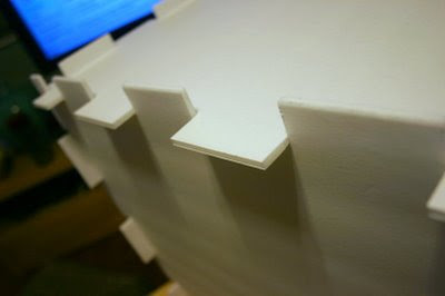 Once you cut out the shaded boxes to create your notches, you should be able to easily assemble the light box.