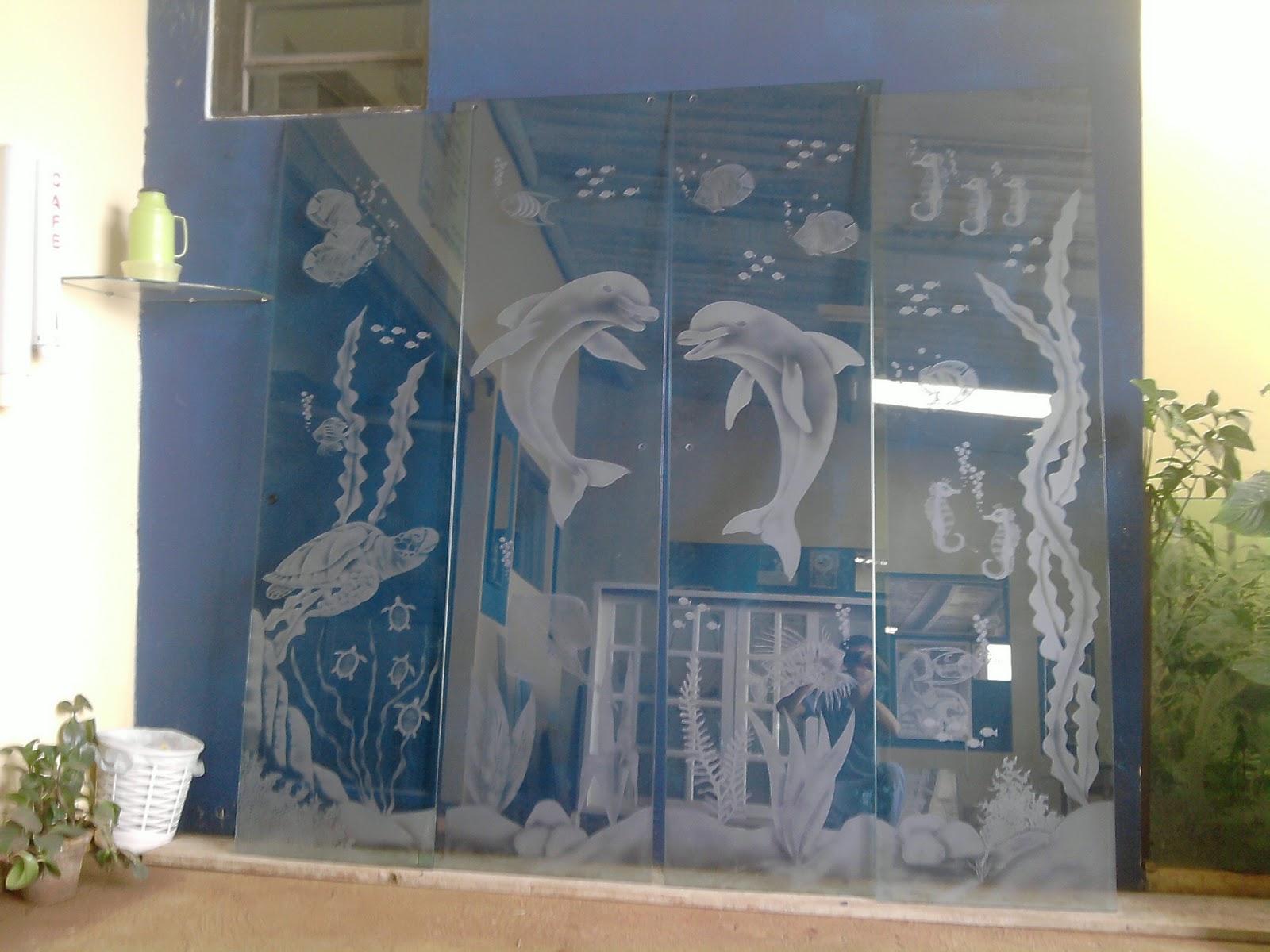 Imagens de #999932 VIDROS JATEADOS e TEMPERADOS: box fundo do mar 1600x1200 px 2544 Box Banheiro Vidro Jateado