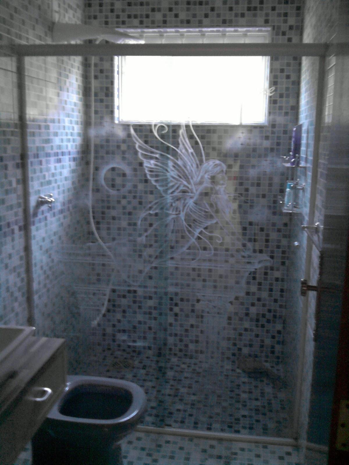 Imagens de #415E8A VIDROS JATEADOS e TEMPERADOS: box jateado desenho artistico e  1200x1600 px 3038 Box Banheiro Com Vidro Jateado