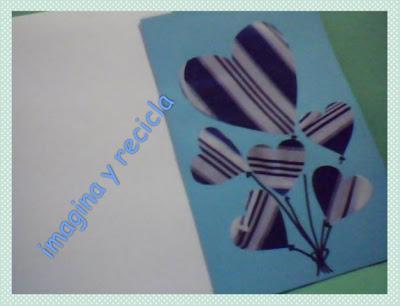 imagina y recicla ★: Tarjeta San Valentin hecha a mano