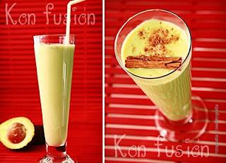 bebida receta baticate frullato delizioso miele profumo di cannella Avocat délicieux smoothie miel cannelle parfum