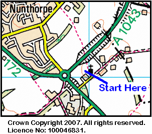 Map of Nunthorpe Church area