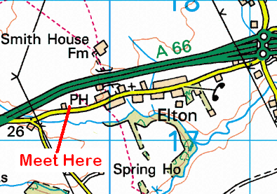Map of Sutton Arms area
