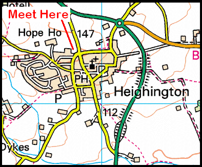 Map of Heighington Recreation Field CP Area