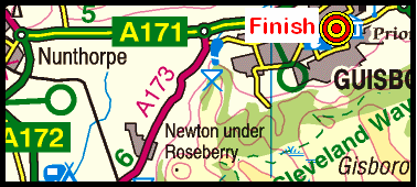 Map of the Clay Bank - Guisborough area