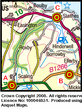Map of the Scaling - Staithes area