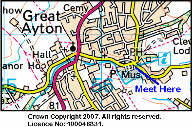 Map of Great Ayton area.