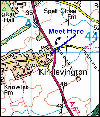 Map of Kirklevington area.