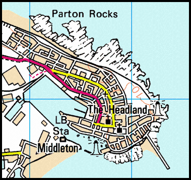 Map of Hartlepool Headland area.