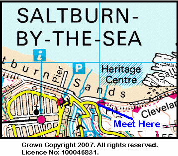 Map of Ship Inn at Saltburn area