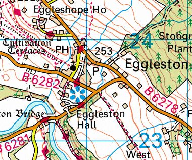 Map of Eggleston Hall Area