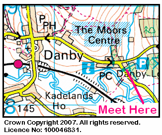 Map of Danby Moors Area