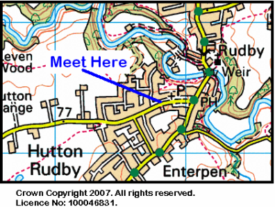 Map of Hutton Rudby Area