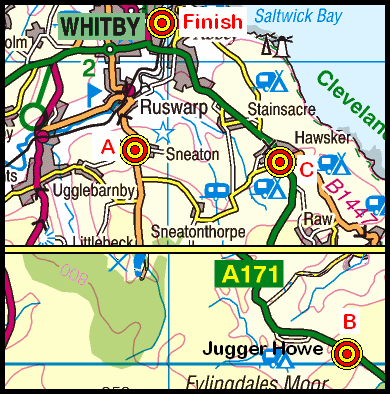 Map of the JuggerHowe-Whitby area