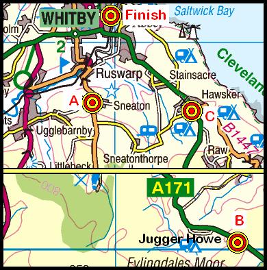 Map of the JuggerHowe-Whitby area