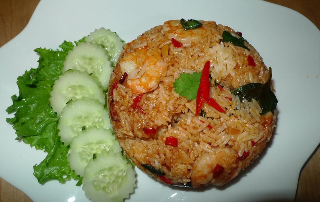 Amporn S Thai Kitchen Thai Basil Fried Rice Shrimp With