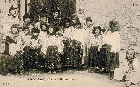 Fillettes juives de Debdou