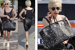 Lady Gaga desfila salto invertido em Londres