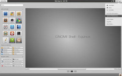 Equinox Gnome Shell Theme
