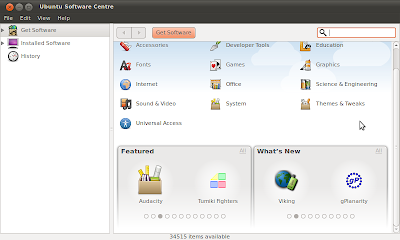 Ubuntu 10.10 Software Center