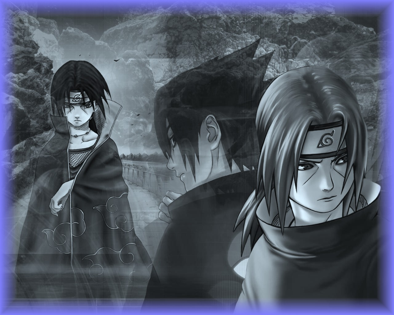 Wallpaper Itachi dan Sasuke