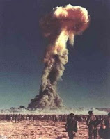 DOG-DESERT: Test:Dog; Date:November 01 1951; Operation:Buster-Jangle; Site:Nevada Test Site (NTS), Area 7; Detonation:Airdrop from B-50, altitude - 1417ft; Yield:21kt; Type:Fission