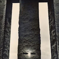 Daybreak: A carefully cut slot in the Guidestones' center column frames the sunrise on solstices and equinoxes. Photo: Dan Winters