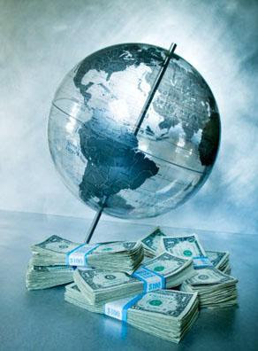 Global Currency: Globe & Dollar