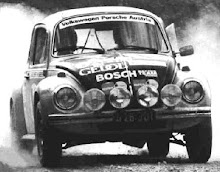 VW 1303 S heading toward a 5th place finish on the Acropolis Rally, 1973. Fischer/Siebert