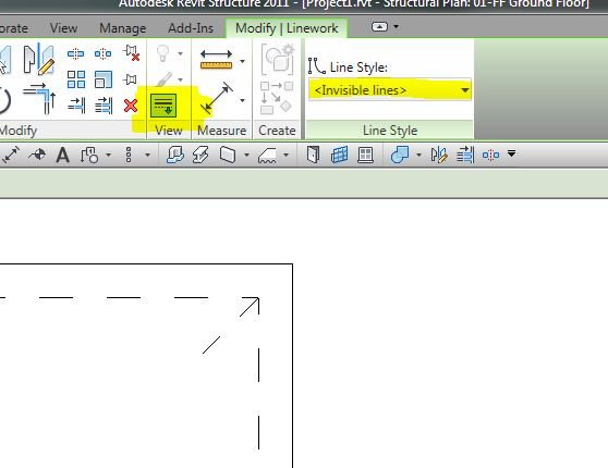 how to show hidden lines of detail view in revit