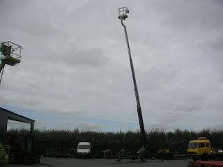 1 713987 Platforma aeriana tractabila montata pe remorca Snorkel MPH21 21 m nacele lifturi platforme de ridicare second hand