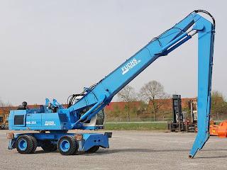 1 705808 Excavatoare Industriale Manevrare Materiale Terex Fuchs MHL 350 second hand 33tone 16m 2003 90.000 Euro
