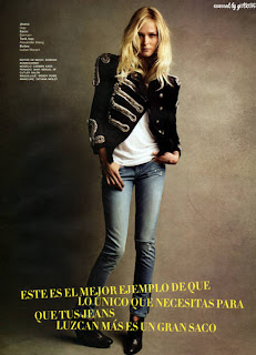 Carmen Kass photo shoot for Glamour Mexico