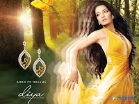 Celina jaitley's Diya Diamond Jewellry Wallpapers