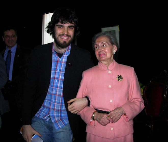 Con su nieto Santi