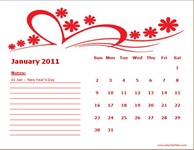 kalender tahun 2011