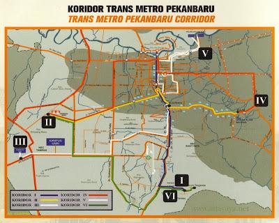 Koridor / Rute Trans Metro SAUM Pekanbaru