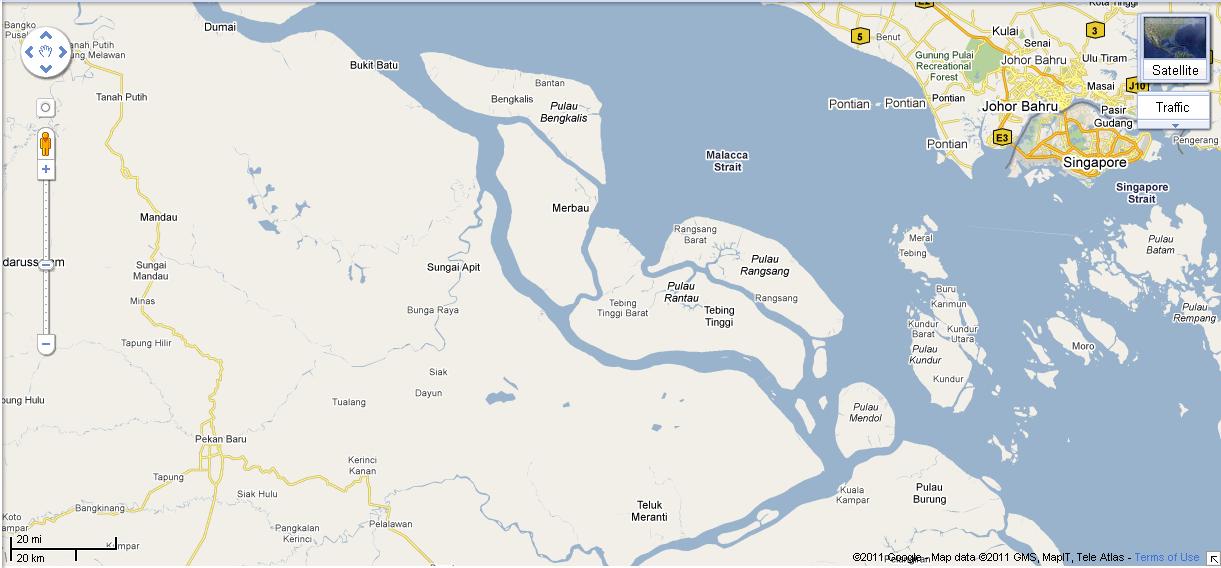 Peta kawasan hutan kabupaten meranti propinsi riau