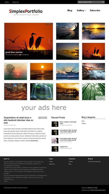 Expressive Faith: Free Blogger Portfolio Templates for photographer ...