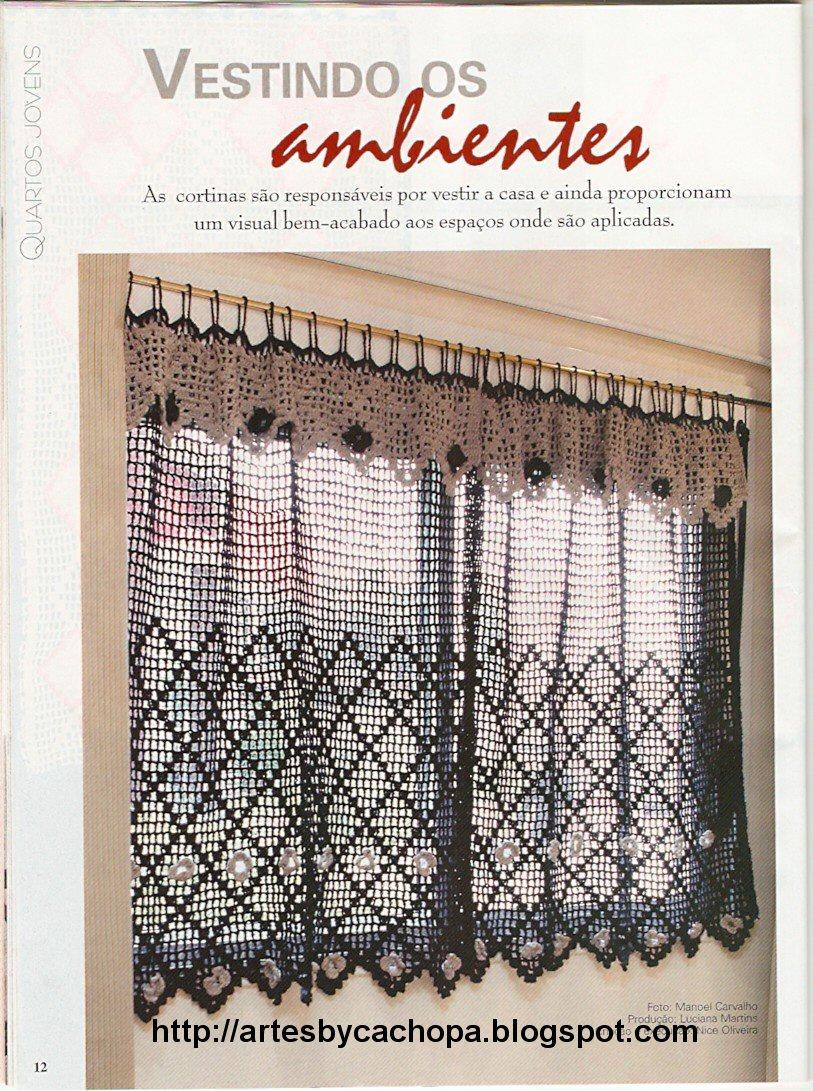 Вязание шторки крючком