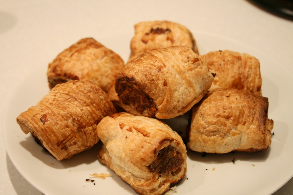 ... not, but I really love home made sausage rolls because they're yummy